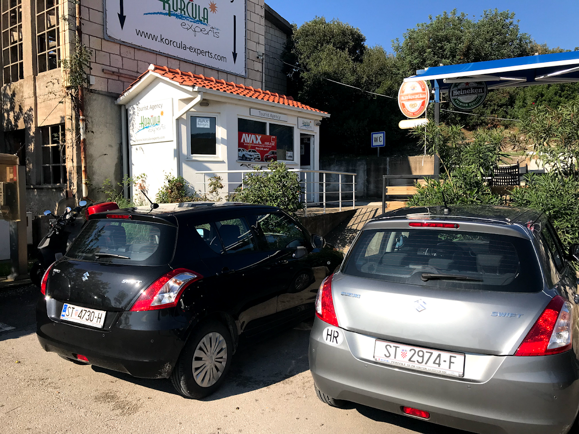 Where to rent a car in Korčula?